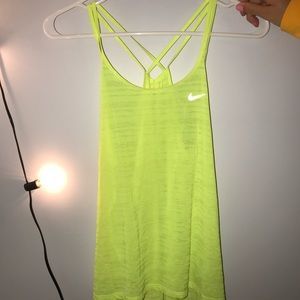 Nike Dri-Fit Neon Yellow Athletic Tank